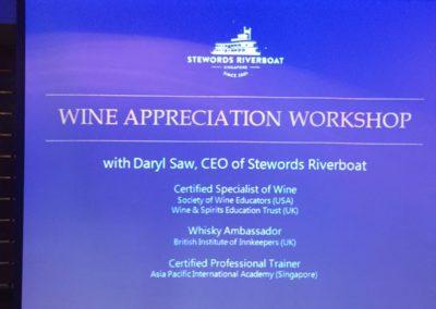 Wine Appreciation workshop 16 Nov 2016