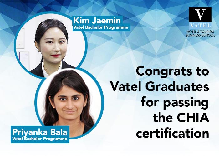 Congrats to Vatel graduates who passed CHIA certification