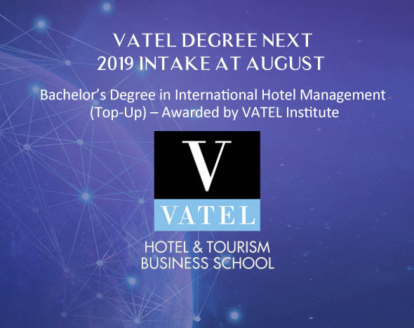 Vatel Degree New July 2019 Intake Open for Application