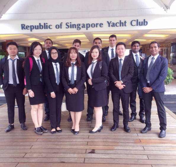 VATEL MBA Field Trip to Singapore Yacht Club – 05 Sept 2017