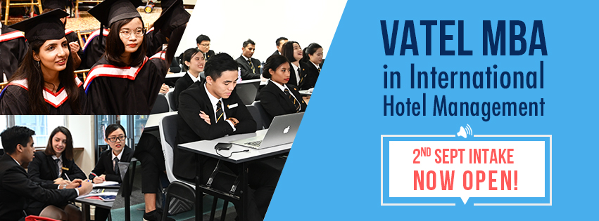 Vatel MBA in International Hotel Management: New Intake Open for Application