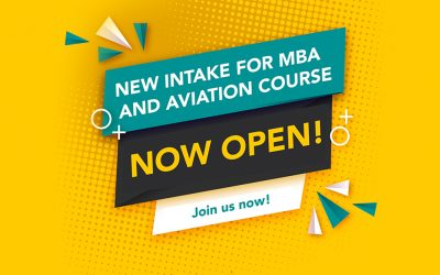New intake for MBA and Aviation programme now open!