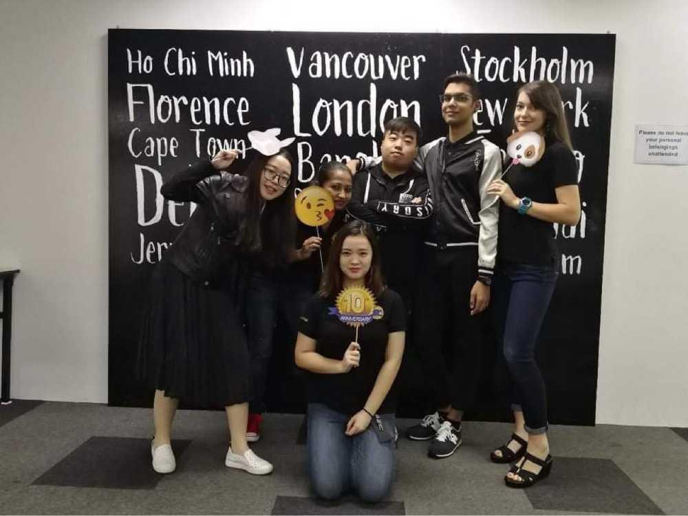 Anita Tran with Group Photo