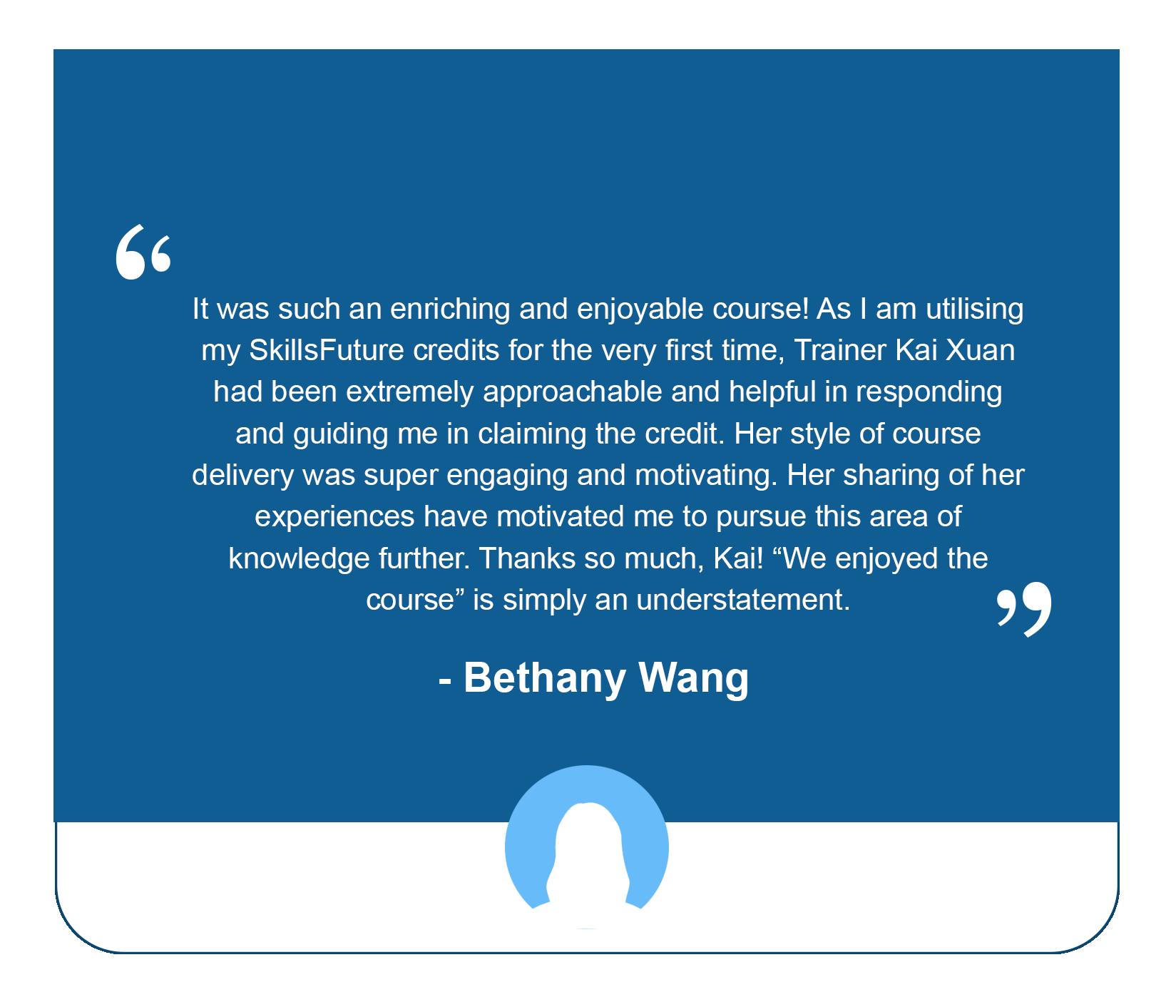 Bar Mixology_Bethany Testimonial