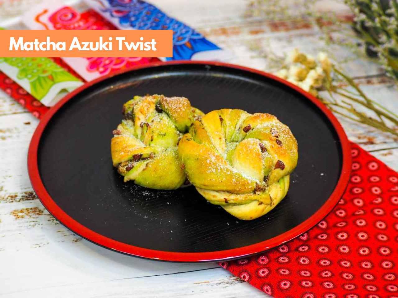 Japanese Breadmaking_Matcha Azuki Twist